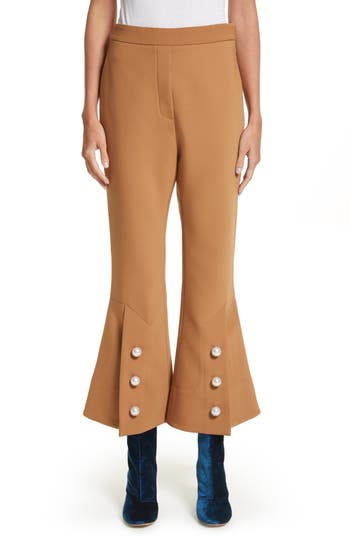 Ellery Fourth Element Crop Flare Pants, US / 6 AU - Beige