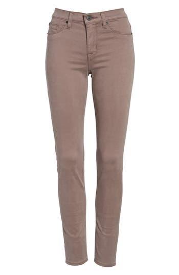 Hudson Jeans Nico Ankle Skinny Pants, Brown