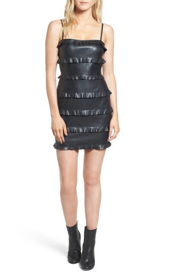Bailey 44 Dark Wave Faux Leather Body-Con Dress, Black