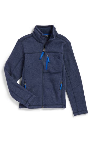 Boys The North Face Gordon Lyons Sweater Fleece Zip Jacket Size S  78  Blue
