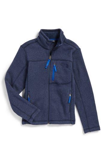Boys The North Face Gordon Lyons Sweater Fleece Zip Jacket Size XL  1820  Blue