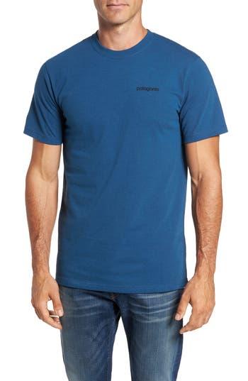 Patagonia Line Regular Fit Logo T-Shirt, Blue