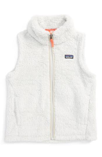 Girl's Patagonia Los Gatos Fuzzy Fleece Vest, Size XS (5-6) - Grey