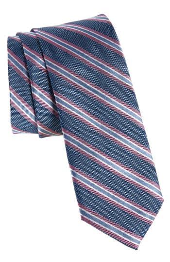 Men's Nordstrom Men's Shop Curtis Stripe Silk Tie, Size Regular - Purple