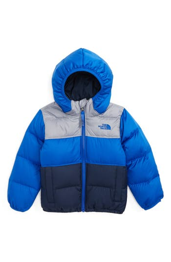 Toddler Boy's The North Face 'Moondoggy' Water Repellent Reversible Down Jacket