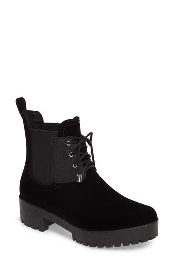 Dav Leeds Lace-Up Waterproof Boot, Black