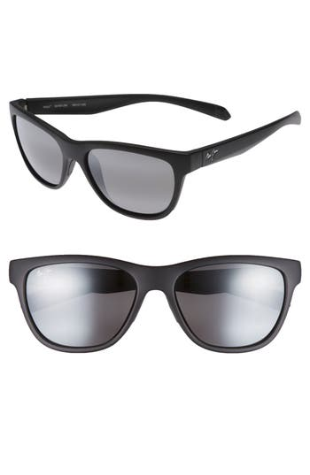 Maui Jim Secrets 5m Polarizedplus2 Sunglasses - Matte Black/ Neutral Grey