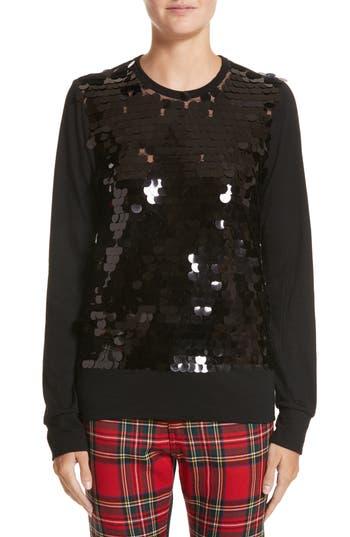 Women's Junya Watanabe Sequin Top, Size Small - Black