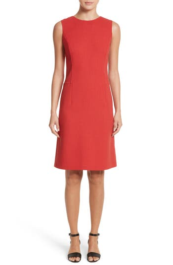 Lafayette 148 New York Selita Nouveau Crepe Dress, Red