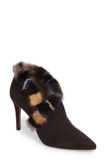 Donald J Pliner Renata Genuine Mink Fur Trim Bootie, Brown