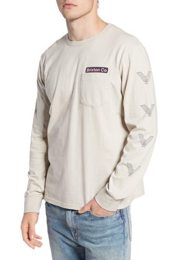 Brixton Maron Long Sleeve T-Shirt, Grey