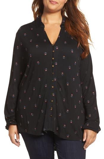 Plus Size Lucky Brand Ditsy Print Shirt