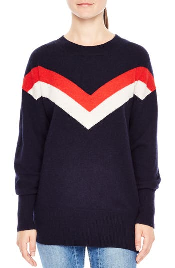 Sandro Lonora Wool Blend Sweater, Blue