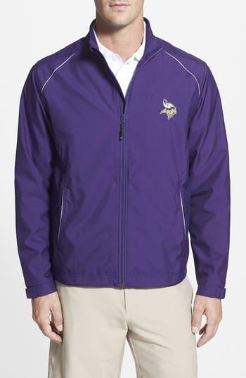 Men's Cutter & Buck Minnesota Vikings - Beacon Weathertec Wind & Water Resistant Jacket