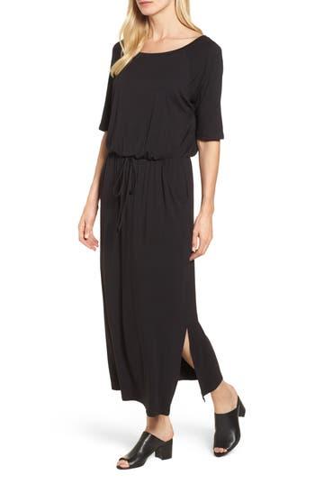 Caslon Tie Waist Maxi Dress, Black