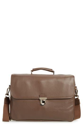 Eleventy Convertible Briefcase - Brown