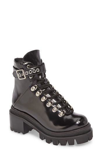 Jeffrey Campbell Czech Lace-Up Boot, Black