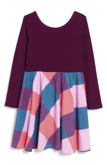 Girl's Tea Collection Dahlia Skirted Dress, Size 4 - Purple