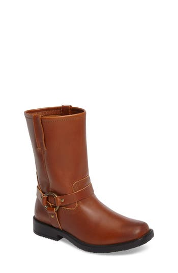 Girls Frye Harness Engineer Boot Size 1 M  Brown