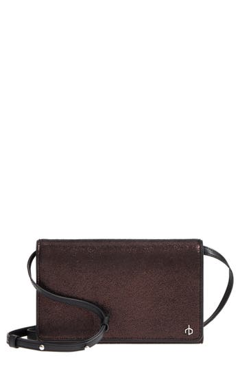 Women's Rag & Bone Metallic Leather Crossbody Wallet - Metallic