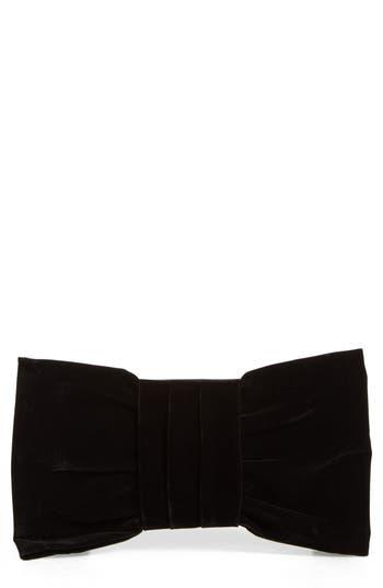 Shiraleah Belen Bow Velvet Clutch - Black