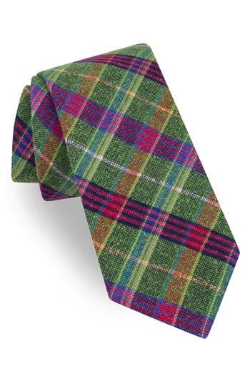Men's Ted Baker London Plaid Silk Tie, Size Regular - Green