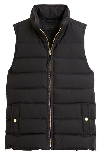 J.crew Anthem Down & Feather Fill Puffer Vest, Black