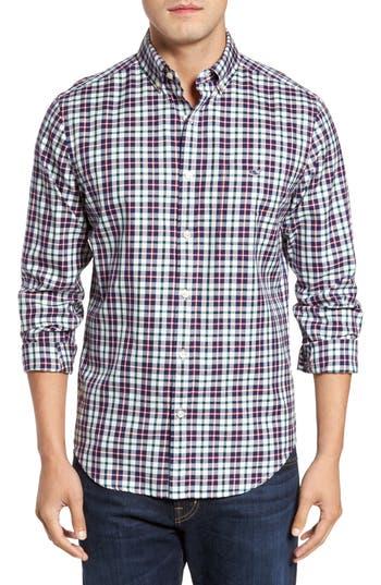 Men's Vineyard Vines Tucker Warm Ember Classic Fit Plaid Sport Shirt, Size Small - Red