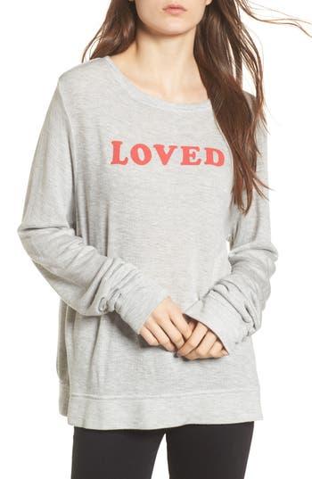 Women's Wildfox Loved Sweatshirt, Size X-Small - Grey