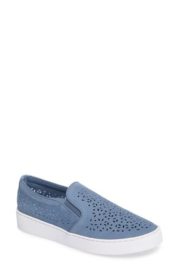 Vionic Perforated Slip-On Sneaker, Blue