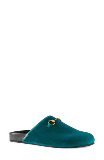 Women's Gucci New River Mule, Size 7.5US / 37.5EU - Blue