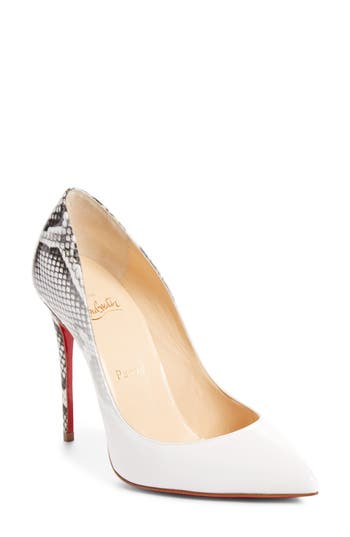 Christian Louboutin Pigalle Follies Pointy Toe Pump, White