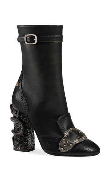 Gucci Queercore Brogue Boot, Black