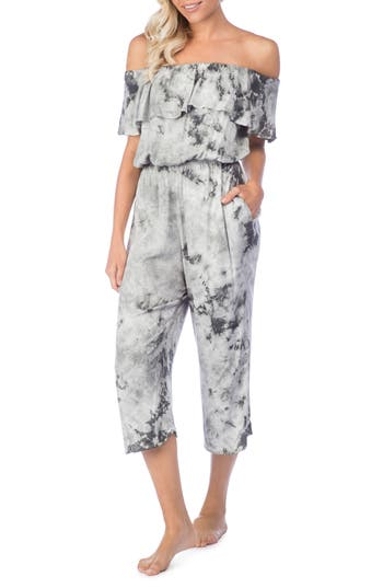 Green Dragon Crystal Forest Mira Cover-Up Jumpsuit, Grey