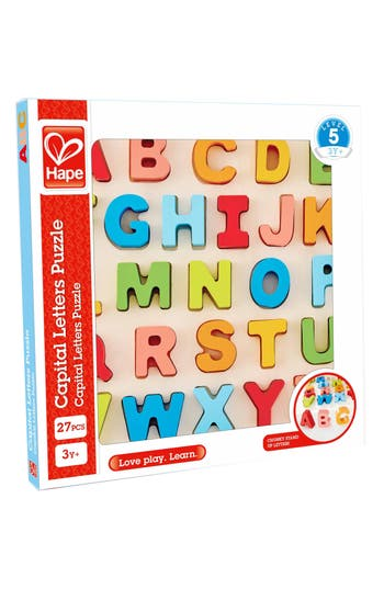 Toddler Hape 27Piece Chunky Capital Letters Puzzle