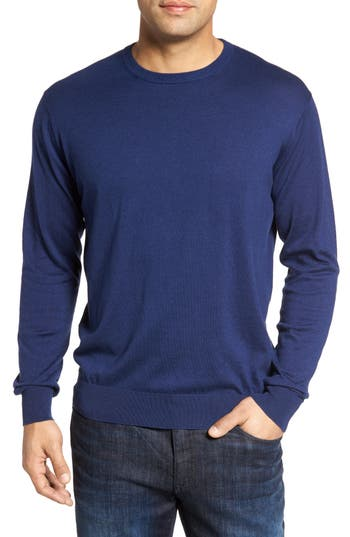 Peter Millar Crown Soft Cotton & Silk Sweater, Blue