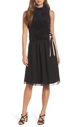 Nic + Zoe Lace-Up Dress, Black