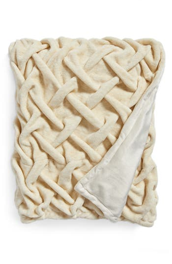 Nordstrom At Home Throw, Size One Size - Beige