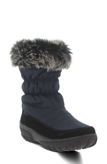 Spring Step Rolim Faux Fur Trim Waterproof Boot, Blue