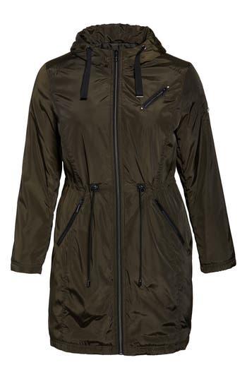 Plus Size Tahari Tiffany Raincoat, Green