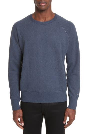 Rag & Bone Standard Issue Crewneck Sweatshirt, Blue