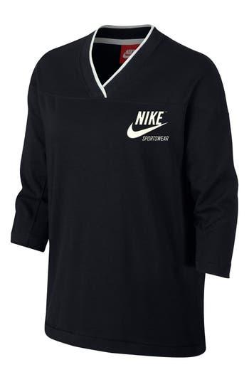 Nike Sportswear V-Neck Top, Black