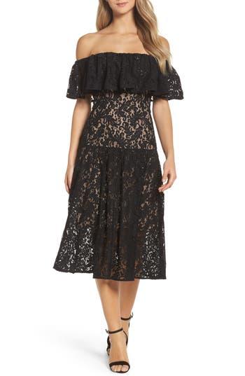 Cooper St Sunday Silence Lace Off The Shoulder Dress, Black