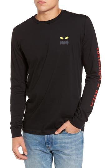 Rvca Toy Machine Logo T-Shirt, Black