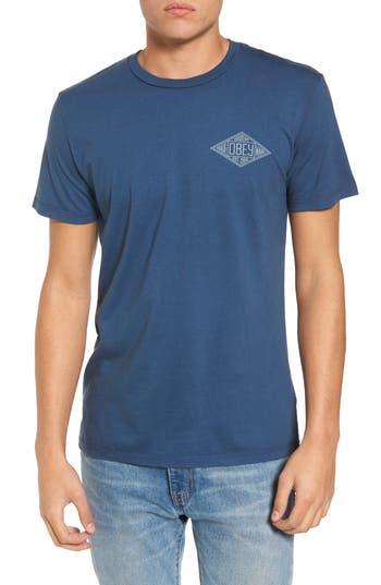 Obey Trademark Diamond T-Shirt, Blue