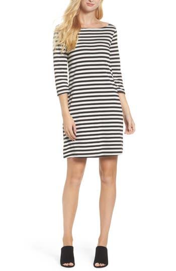 Leota Nouveau Stripe Shift Dress, White