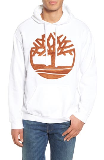 Men's Timberland Vintage Applique Hoodie, Size Small - White