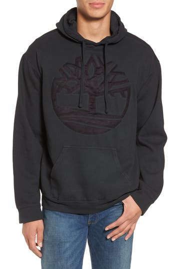 Men's Timberland Vintage Applique Hoodie, Size Small - Black