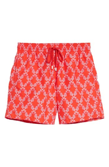 Vilebrequin Seahorses Swim Trunks, Red