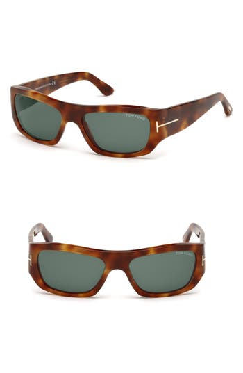 67f05c8cacc Men s Tom Ford Rodrigo 56Mm Sunglasses - Blonde Havana  Green Lenses